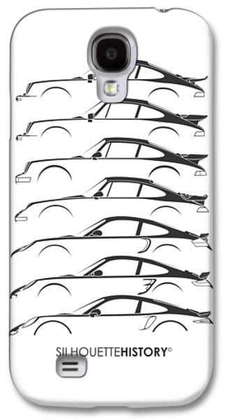 Turbo Sports Car Silhouettehistory Galaxy S4 Case