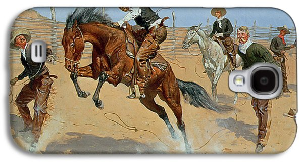 Turn Him Loose Galaxy S4 Case by Frederic Remington