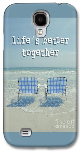 Two Empty Beach Chairs Galaxy S4 Case