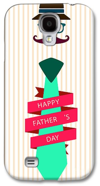 Typography Poster - Happy Father's Day Galaxy S4 Case