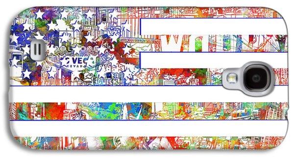 July 4 Galaxy S4 Case - Usa Flag 13 by Bekim Art