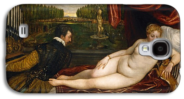 Venus With An Organist And A Dog Galaxy S4 Case by Titian