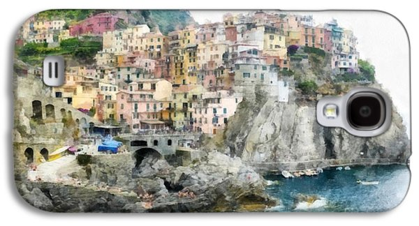 Manarola Italy In The Cinque Terra Galaxy S4 Case