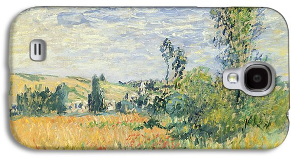 Field. Cloud Paintings Galaxy S4 Cases - Vetheuil Galaxy S4 Case by Claude Monet