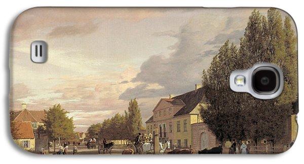 View Of A Street In Osterbro Outside Copenhagen. Morning Light Galaxy S4 Case by Christen Kobke