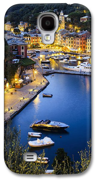 View Of The Harbour At Dusk  Portofino Galaxy S4 Case