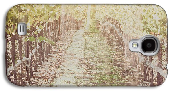 Vineyard In Autumn With Vintage Film Style Filter Galaxy S4 Case