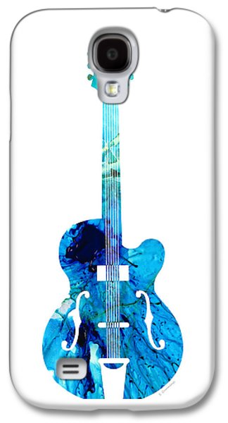 Vintage Guitar 2 - Colorful Abstract Musical Instrument Galaxy S4 Case by Sharon Cummings