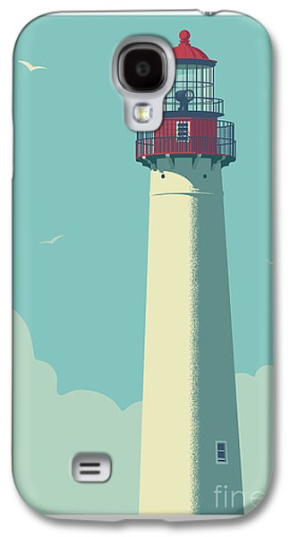 Vintage Style Cape May Lighthouse Travel Poster Galaxy S4 Case