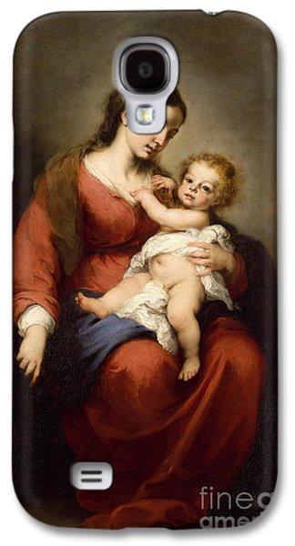 Virgin And Child Galaxy S4 Case by Bartolome Esteban Murillo