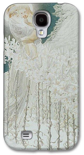 Virgin Of The Lilies Galaxy S4 Case by Carlos Schwabe