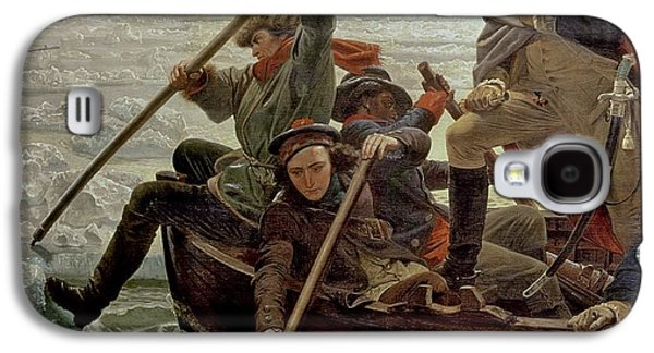 Historic Ship Galaxy S4 Cases - Washington Crossing the Delaware River Galaxy S4 Case by Emanuel Gottlieb Leutze