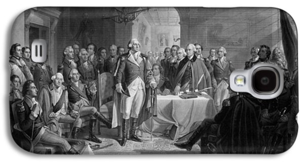 Washington Meeting His Generals Galaxy S4 Case by War Is Hell Store
