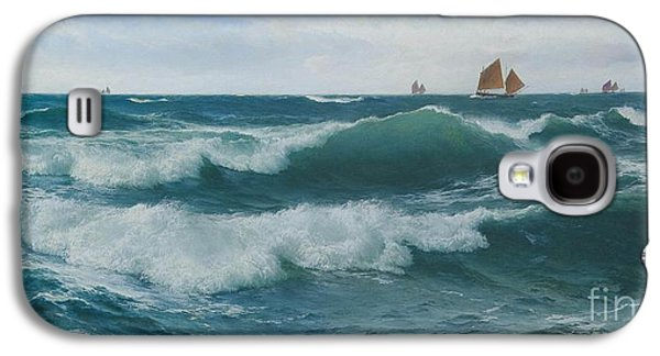 Waves Breaking In Shallow Waters Galaxy S4 Case by Celestial Images