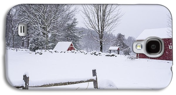 Wayside Inn Grist Mill Covered In Snow Storm Galaxy S4 Case by Toby McGuire