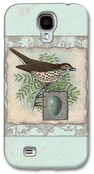 Welcome To Our Nest - Vintage Bird W Egg Galaxy S4 Case by Audrey Jeanne Roberts