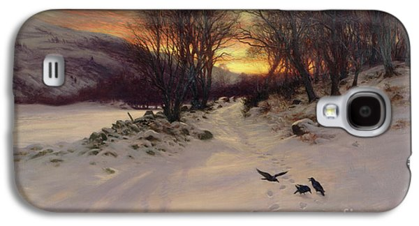 Winter Landscapes Galaxy S4 Cases - When the West with Evening Glows Galaxy S4 Case by Joseph Farquharson