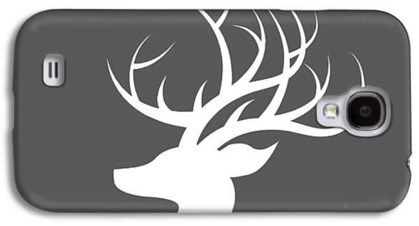 White Deer Silhouette Galaxy S4 Case