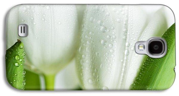 White Tulips Galaxy S4 Case by Nailia Schwarz