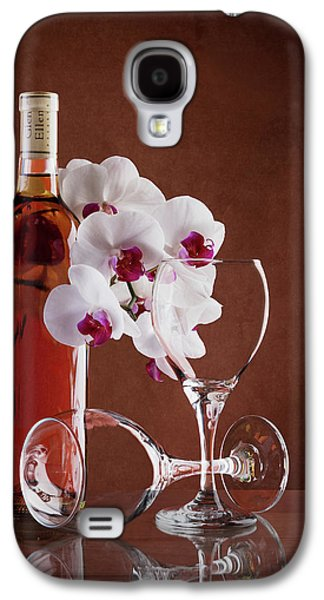 Orchid Galaxy S4 Case - Wine And Orchids Still Life by Tom Mc Nemar