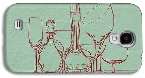 Wine Decanters With Glasses Galaxy S4 Case by Tom Mc Nemar