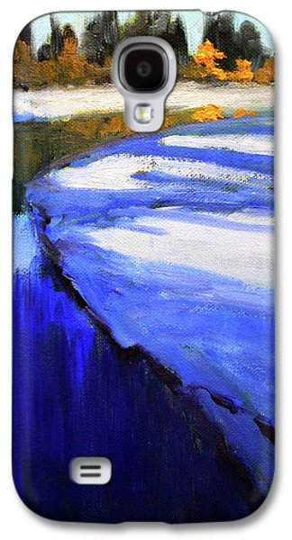 Galaxy S4 Case featuring the painting Winter River by Nancy Merkle