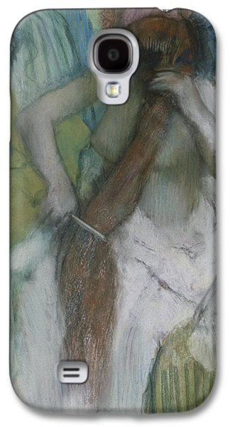 Woman Combing Her Hair Galaxy S4 Case