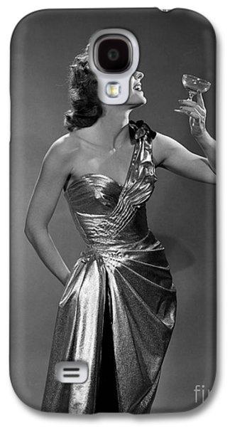 Woman In Metallic Dress, C.1950s Galaxy S4 Case