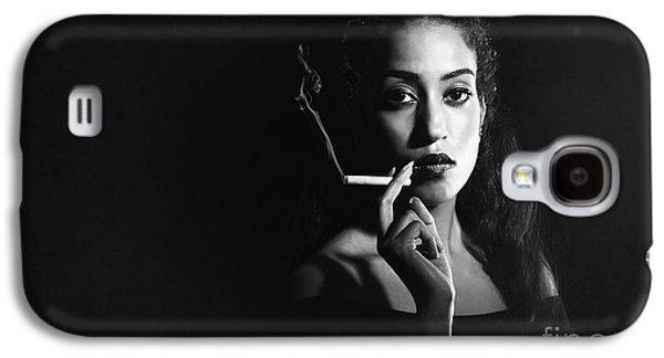 Woman Smoking Galaxy S4 Case