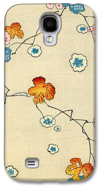 Woodblock Print Of Fall Leaves Galaxy S4 Case