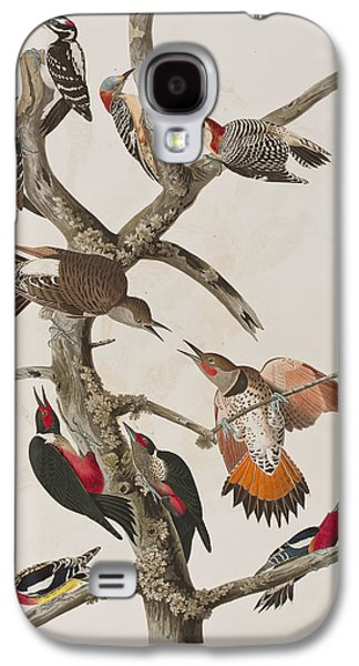 Woodpeckers Galaxy S4 Case by John James Audubon