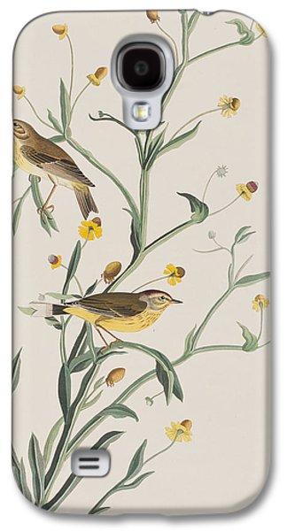 Warbler Galaxy S4 Case - Yellow Red-poll Warbler by John James Audubon