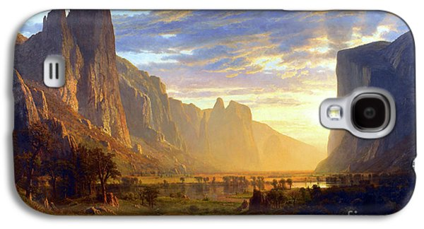 Yosemite Valley Galaxy S4 Case by Albert Bierstadt