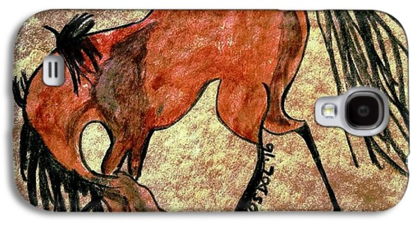 Wild Racers Galaxy S4 Case - The Dancing Pony by Scott D Van Osdol