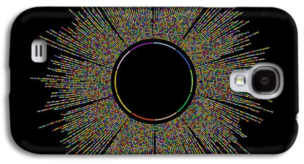 10000 Digits Of Pi Galaxy S4 Case by Martin Krzywinski