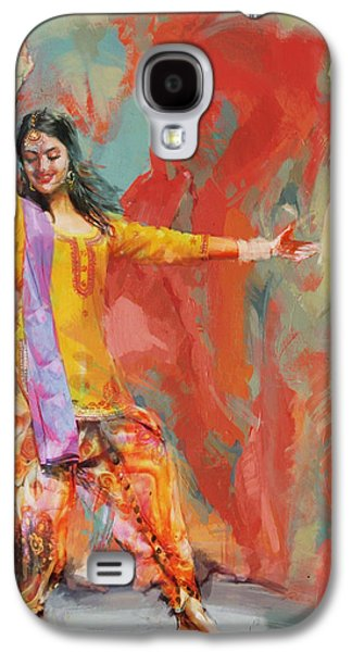 11 Pakistan Folk Punjab Galaxy S4 Case by Maryam Mughal