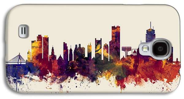 Boston Massachusetts Skyline Galaxy S4 Case