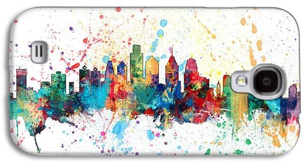 Philadelphia Pennsylvania Skyline Galaxy S4 Case by Michael Tompsett