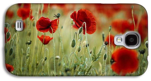 Summer Poppy Meadow Galaxy S4 Case by Nailia Schwarz