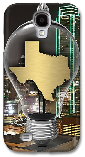 Texas State Map Collection Galaxy S4 Case by Marvin Blaine