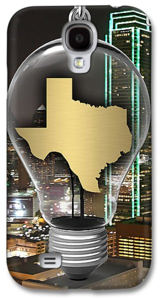 Texas State Map Collection Galaxy S4 Case