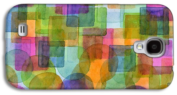 Befriended Squares And Bubbles Galaxy S4 Case