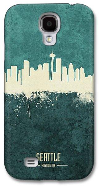 Seattle Skyline Galaxy S4 Case - Seattle Washington Skyline by Michael Tompsett