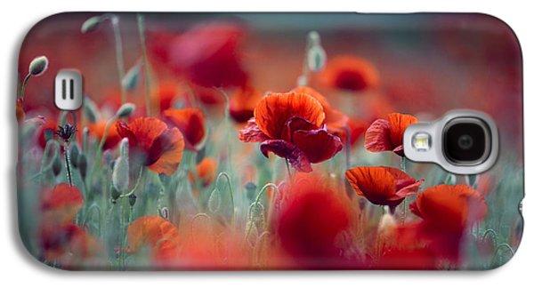 Summer Poppy Meadow Galaxy S4 Case