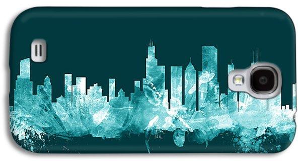 Chicago Illinois Skyline Galaxy S4 Case by Michael Tompsett