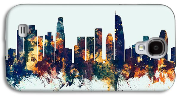 Los Angeles California Skyline Galaxy S4 Case by Michael Tompsett