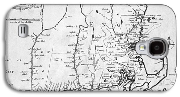 1702 Map Of New England And New York Galaxy S4 Case by Toby McGuire