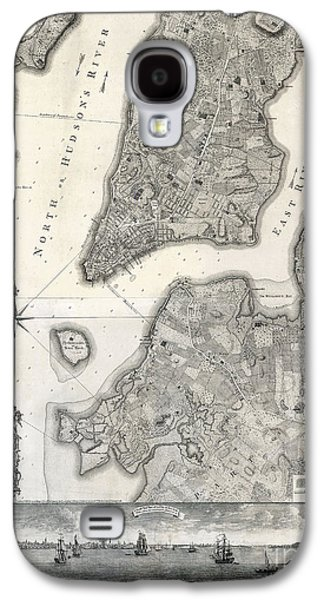 1766 Map Of New York City Galaxy S4 Case