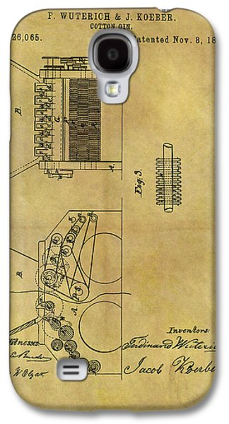1859 Cotton Gin Patent Galaxy S4 Case