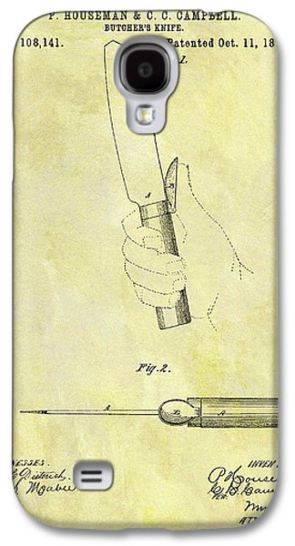1870 Butcher Knife Patent Galaxy S4 Case by Dan Sproul